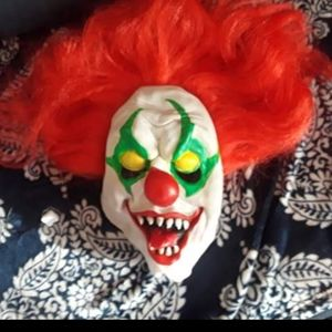 Light up scary clown mask